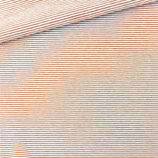 Single Jersey - Weiß mit kleinen Kupfer Streifen
