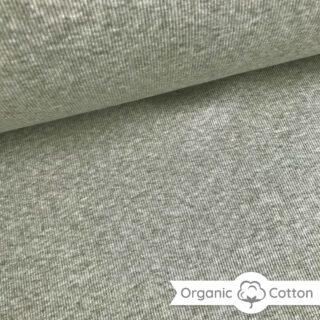 Bündchen gerippt - Helle Olive meliert - ORGANIC