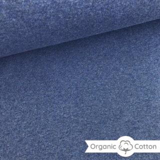 Bündchen gerippt - Jeansblau meliert - ORGANIC