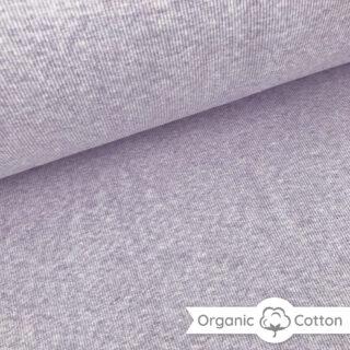 Bündchen gerippt - Lavendel meliert - ORGANIC