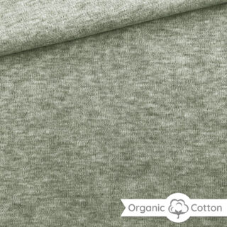 Interlock Jersey - Helle Olive meliert - ORGANIC