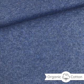 Interlock Jersey - Jeansblau meliert - ORGANIC