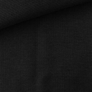 Waffel Jersey - Schwarz