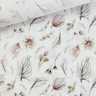 Musselin - Feenblumen Warmweiß