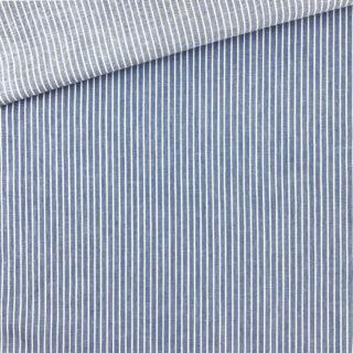 Leichter Denim – Mittleres Jeansblau gestreift