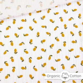Musselin - Kleine Zitronen Warmweiß