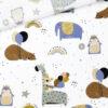 Popeline - Party Animals Weiß