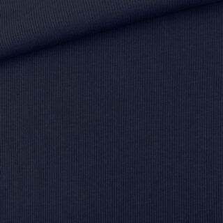 Rippenjersey - Marineblau