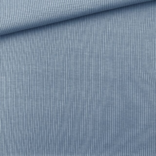 Rippenjersey - Mittleres Jeansblau