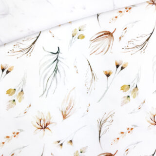 Single Jersey - Feenblumen Cremeweiß