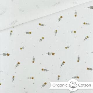 Single Jersey -Tiny Flowers Cremeweiß