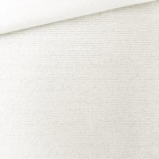 Cotton Terry - Streifenstruktur - Cremeweiß