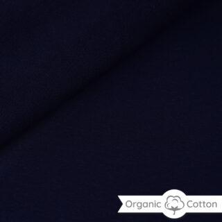 French Terry - dünner Sweatshirtstoff - Navyblau - ORGANIC