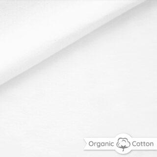 French Terry - dünner Sweatshirtstoff - Weiß - ORGANIC