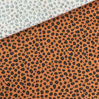 Popeline - Leopard Kupfer
