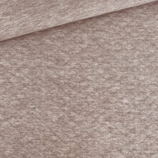 Stepp-Jersey - Dunkles Smoky Beige meliert
