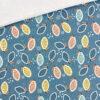 French Terry - dünner Sweatshirtstoff - Dusty Mintblau bunte Zitronen