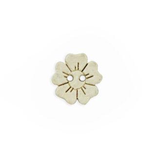 Kokosnussknopf Blumenform - 15 mm - 2 Loch