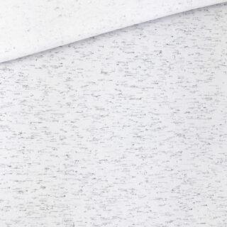 French Terry - leichter Kuschelsweat - Grauweiß mit schwarzen Sprenkeln