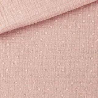 Musselin - Dots Helles Lachs-Altrosa