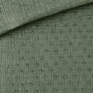 Musselin - Dots Khakigrün