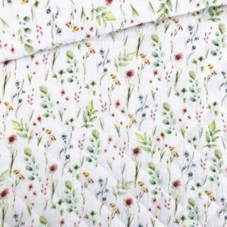Stepp-Musselin - Sommerblümchen Warmweiß