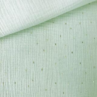 Musselin - Goldregen Pastell-Mintgrün