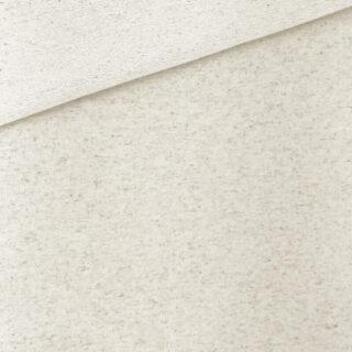 Baumwoll-Leinen French Terry - dünner Sweatshirtstoff - Natur meliert