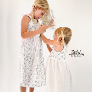 DIY Stoffe Outfit - Top & Trägerkleid Tara