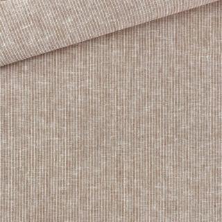 Leinen-Baumwollgemisch - Streifen Braun