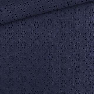 Stickerei Jersey - Navyblau