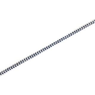 Baumwollkordel - 5 mm - Weiß Dunkelblau
