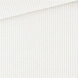 Soft-Waffel-Jersey - Cremeweiß