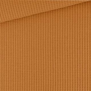 Soft-Waffel-Jersey - Dunkles Ocker