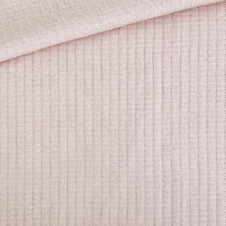 Doubleface Jersey - Waffeloptik - Helles Lachs-Altrosa