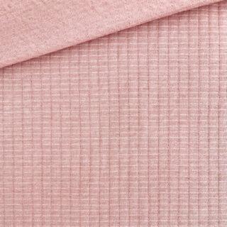 Doubleface Jersey - Waffeloptik - Smoky Coral Clay