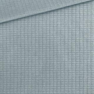 Doubleface Jersey - Waffeloptik - Smoky Eisblau