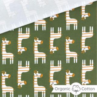 Single Jersey - Giraffen Dunkles Rauchgrün - ORGANIC