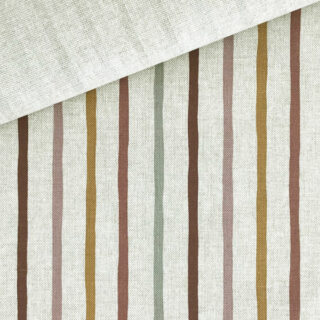 Leichter Canvas in Leinenoptik - Boho Dream Stripes Natur