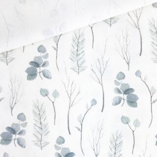 Single Jersey - Farne & Eukalyptus Cremeweiß
