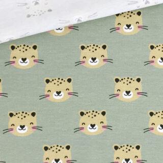 Single Jersey - Leopard Helles Khaki